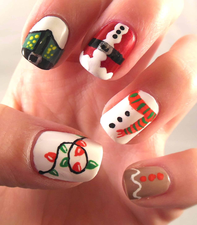 Christmas Nail Art: 357 Holly Jolly Christmas Nail Art Designs You're Gonna Love