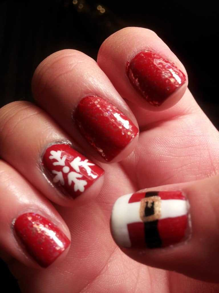 357 Holly Jolly Christmas Nail Art Designs You're Gonna Love