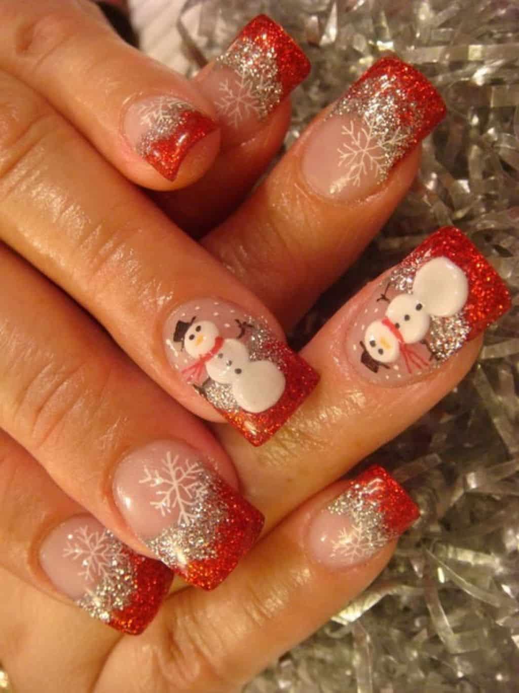 Новогодние ногти фото рисунки