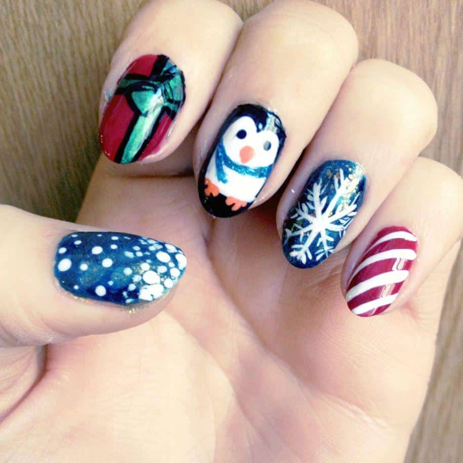 Christmas Nails On Black Hands: 357 Holly Jolly Christmas Nail Art Designs You're Gonna Love