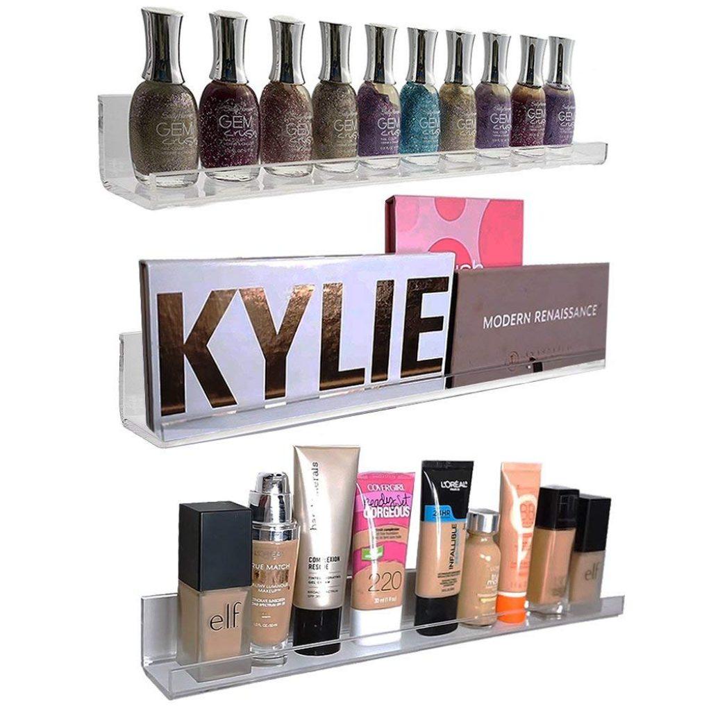 Top 5 best nail polish racks nail polish rack reviews 2018 whn 1 acrylic wall mount cosmetics organizer by pretty display solutioingenieria Choice Image