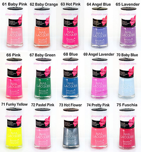 72pcs Nail Manicure Nabi Nail Polish (Wholesale Lot)