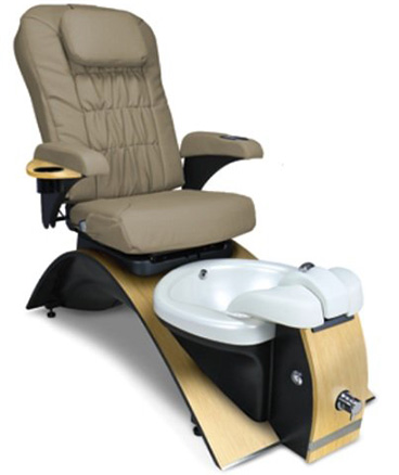 Continuum Echo LIGHT WALNUT FORMICA CHESTNUT Massage Pedicure Pipeless Spa Chair