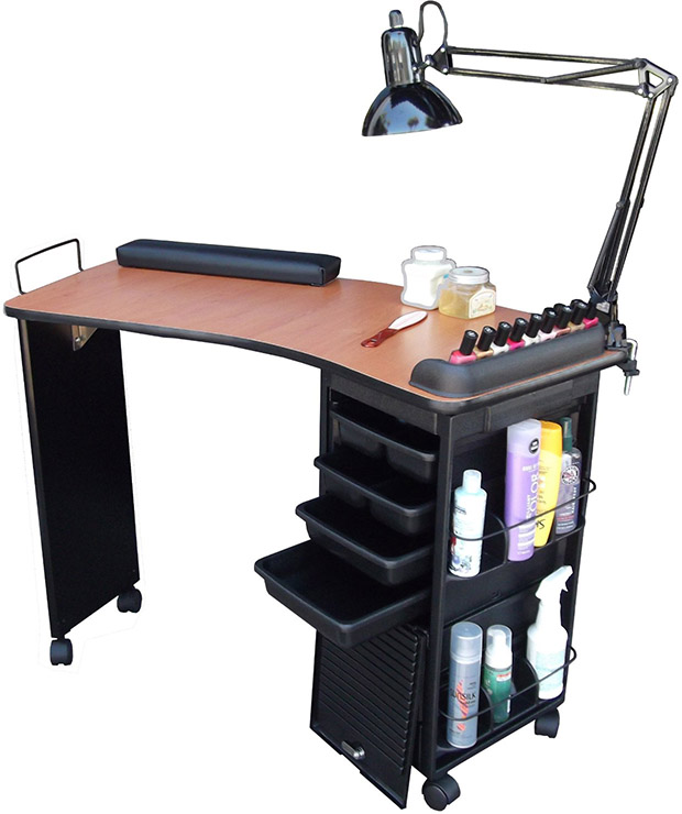 Manicure tables for sale top 5 best deals we heart nails for Cheap nail desk